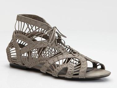 Joie Leo Cutout Lace-Up Flat Sandals