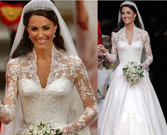 Kate Middleton White Lace Sleeve Dress