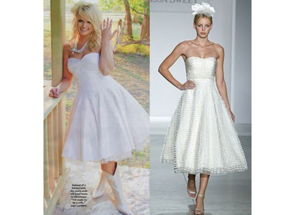 Miranda Lambert Kept It Short And Sweet In A Tea Length Wedding Dress Get The Look