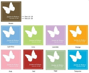 Personalized Butterfly Label and Stickers