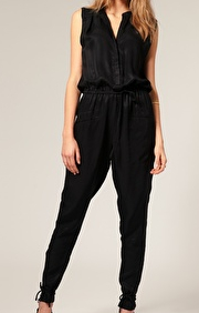 Vero Moda Very Cupro Sleeveless Jumpsuit