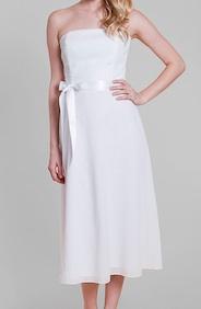 Kathlin Argiro White Strapless Dresses
