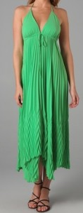 Alice + Olivia Adalyn Pleated Maxi