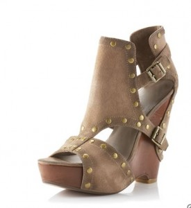 Ash Topo Wedge Studded Sandal