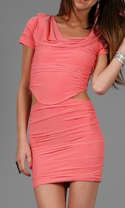 Boulee Blake Draped Neck Dress with Side Cut Outs in many colors