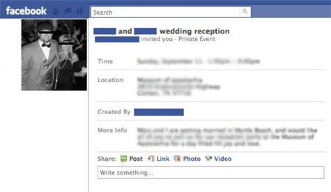 Facebook Wedding Invitations