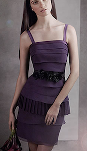 Tiered Crinkle Chiffon Dress with Satin Straps