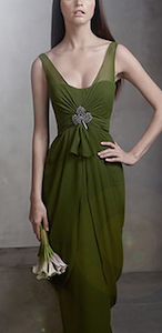V Neck Sleeveless Chiffon Column Dress