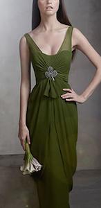 V Neck Sleeveless Chiffon Column Dress