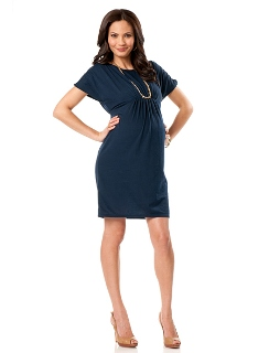 Short Sleeve Dropwaist Maternity Dress