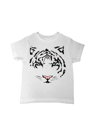 Wildfox Tiger Tiger Over-Sized Tee in Dirty White