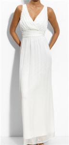 Calvin Klein Sequin Trim Mesh Gown