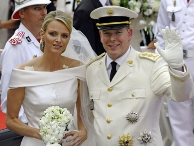 Prince of Monaco and his bride