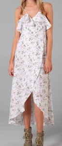 Daughters of the Revolution Peony Long Wrap Dress