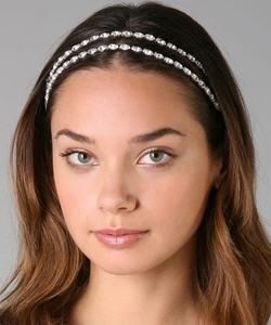 Deepa Gurnani Double Crystal Headband
