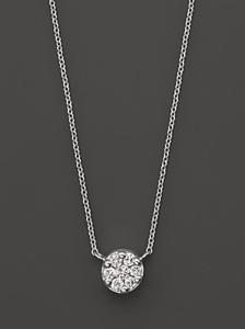 Diamond Pendant Set In 14 kt. White Gold