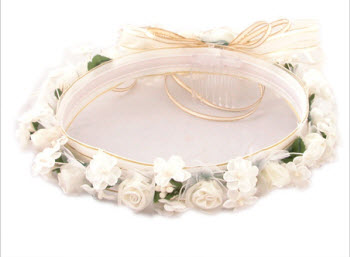 Ivory Spring Hair Wreath