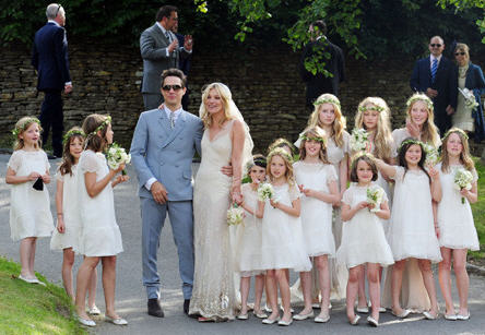 Kate Moss 39 adorable entourage of flower girls almost stole her wedding day