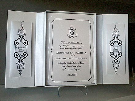 Whoops after speculating that Kim Kardashian 39s leaked wedding invitation