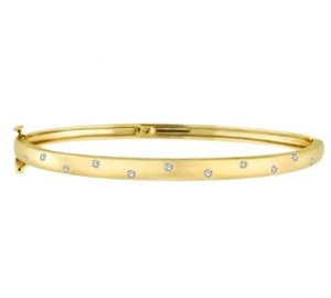Pave-Set Starlight Diamond Bangle Bracelet in 14k Yellow Gold