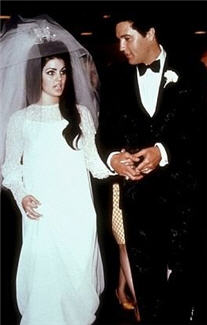 Retro Wedding Dresses Priscilla Presley Wedding Dress 1950s