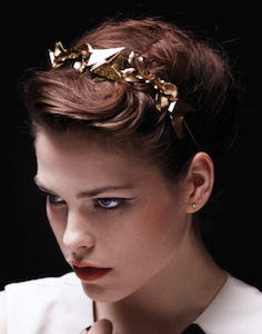 Spiked Metal Orchid Headband