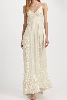 Sue Wong Embroidered Empire Gown