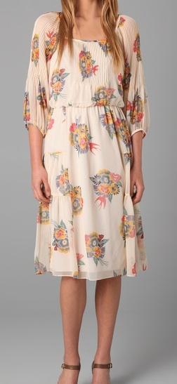 Art deco circle print dress at Lane Bryant - Visit review at