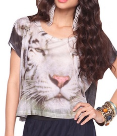 White Tiger Sublimation Tee