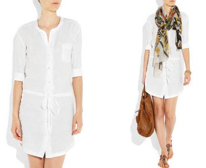 James Perse   Linen shirt dress   What to wear heat wave