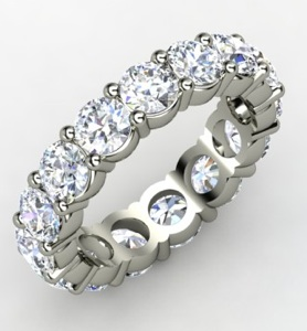 Band of Brilliance Platinum Ring with Diamond