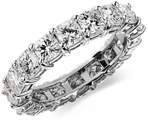 Cushion-Cut Diamond Eternity Ring