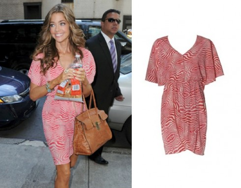 Denise Richards Alice + Olivia Gitana Button Front Dress