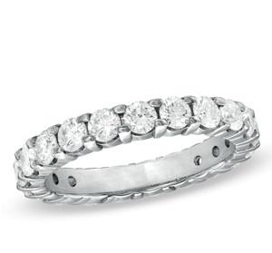 Diamond Eternity Wedding Band in 18K White Gold