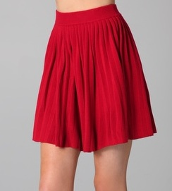 Bright A-Line Skirt: Jane loves her A-line skirts--they complement her already über-feminine style.