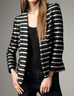 Gypsum Striped Blazer