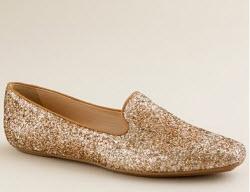 J.Crew slip on glitter loafers
