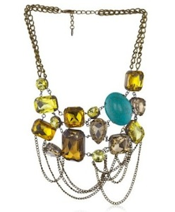 Statement Necklace: this necklace is perfect to play up the girlish factor, while complementing the yellow in the Miu Miu shoes.