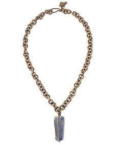 Kelly Wearstler Brass & Lapis  necklace
