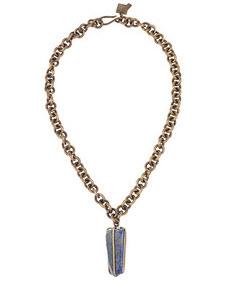 Kelly Wearstler Brass & Lapis  necklace