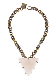 Kelly Wearstler Brass & Quartz Pyramid necklace