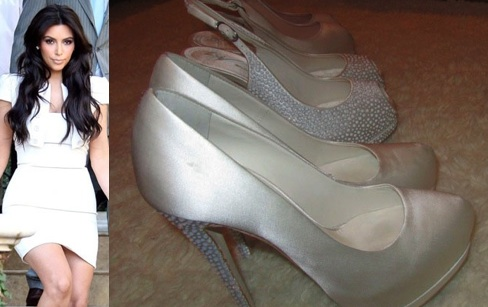 Kardashians Shoes on Kim Kardashian  Finally   Unveils Her Giuseppe Zanotti Wedding Shoes