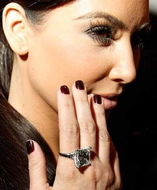 Kim Kardashian Engagement Ring Kim Kardashian Ring Pop Celebrity