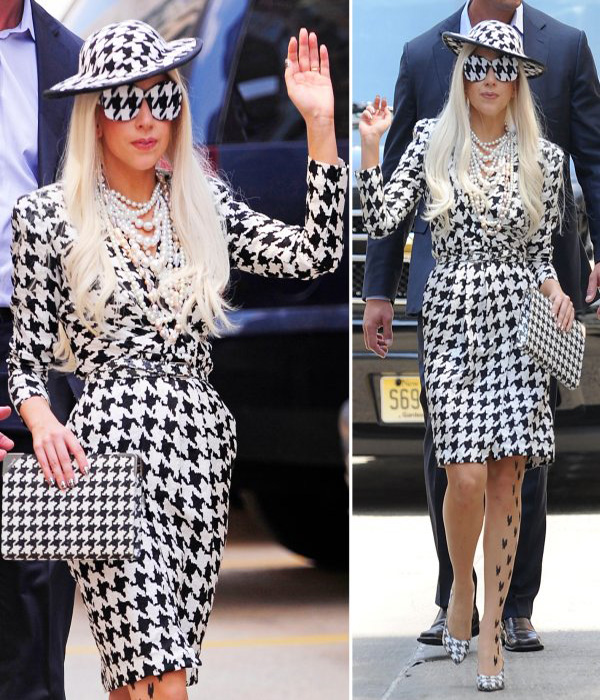 http://www.shefinds.com/files/2011/08/Lady-Gaga-with-Houndstooth-Dress-by-Salvatore-Ferragamo.jpg