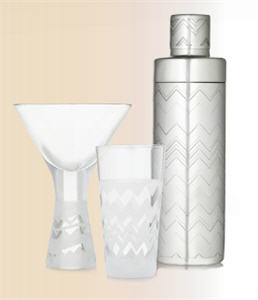 Martini Glass, Wine Glass and Martini Shaker