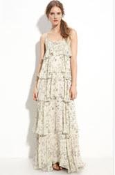 Paper Crown floral print maxi dress
