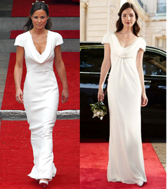 David S Bridal Just Got The Memo On Pippa Middleton Aly Because They Ve Released A Replica Of Her Infamous Alexander Mcqueen Bridesmaid Dress