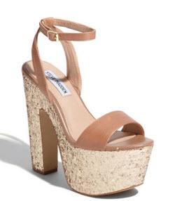 Steve Madden glitter platform shoes