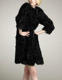 Tie-Waist Fur Coat