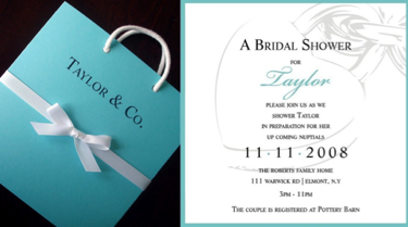 Tiffany Blue Bridal Shower Invitations On Custom Baby Shower